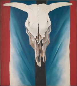 O'KeefeGeorge_Cow'sSkull-RedWhiteAndBlue_1931