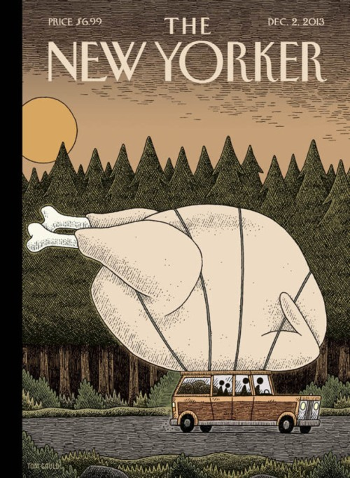 NewYorkerCoverByTomGauld_TurkeyDay