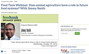 Livestock institute leader Jimmy Smith makes the case for sustainable livestock development—Food Tankwebinar
