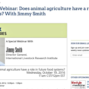 Livestock institute leader Jimmy Smith makes the case for sustainable livestock development—Food Tank webinar
