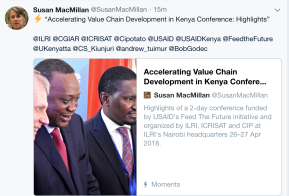 Accelerating the development of agricultural value chains in Kenya—AVCD Conference Highlights