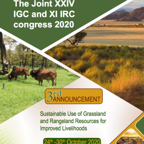 Joint Grasslands and Rangelands Congress will be held in Nairobi in Oct2020