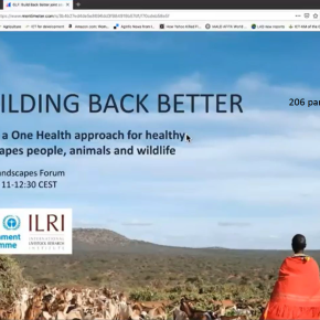 Twitter Moment: ILRI-UNEP explore 'One Health' at the Global Landscapes Forum